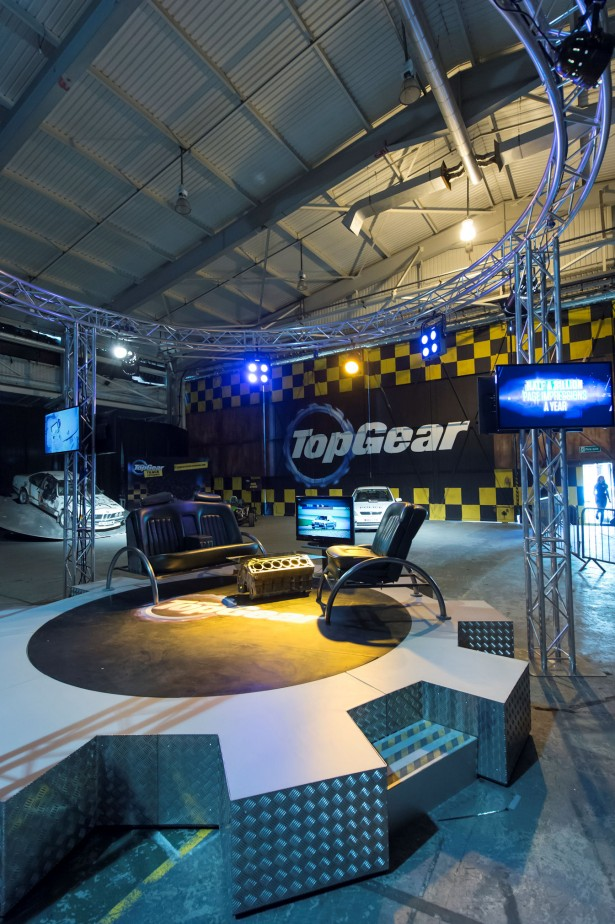 The Top Gear studio at the Top Gear Track Experience
