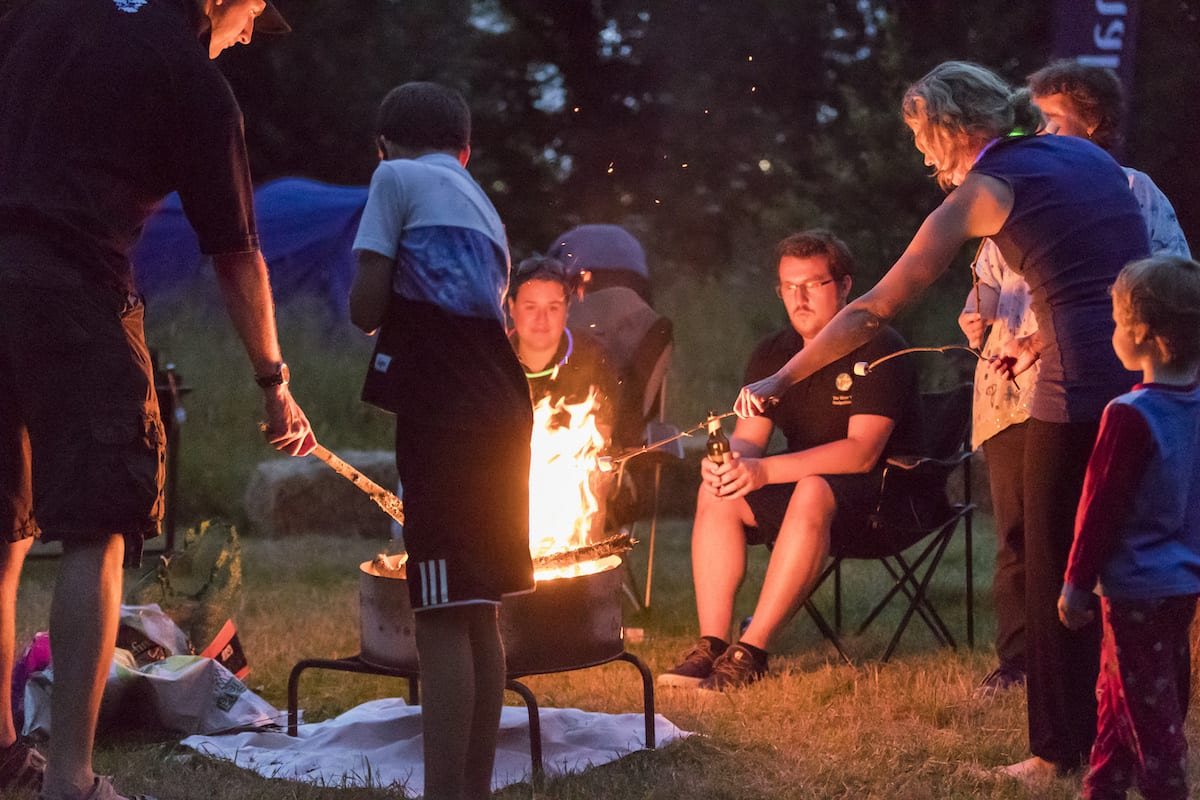 What's on at Waddesdon, August 2019 - Toasting marshmallows at Big Camp in August