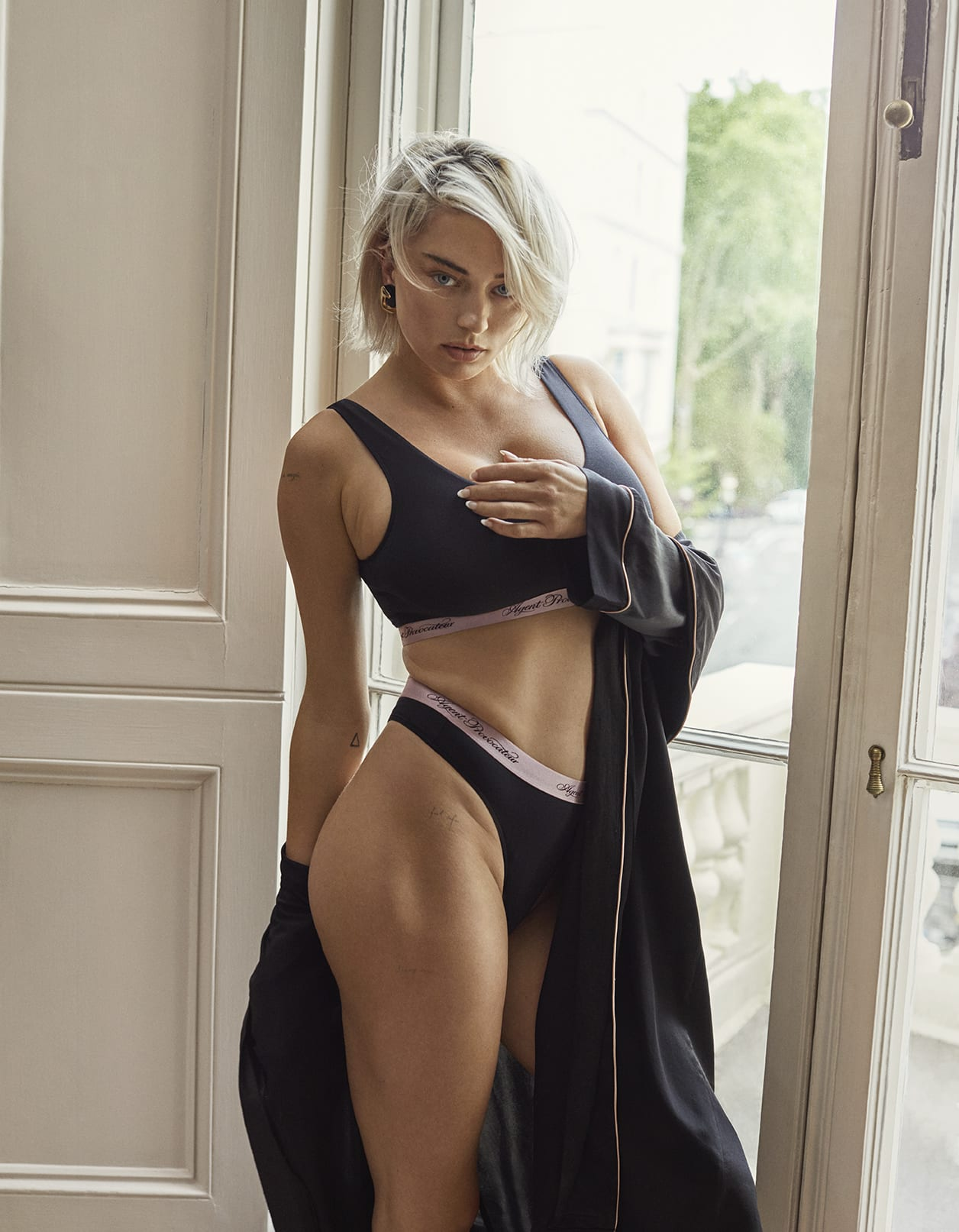 Caroline Vreeland wearing Agent Provocateur Icons Collection - Clea Lingerie Set