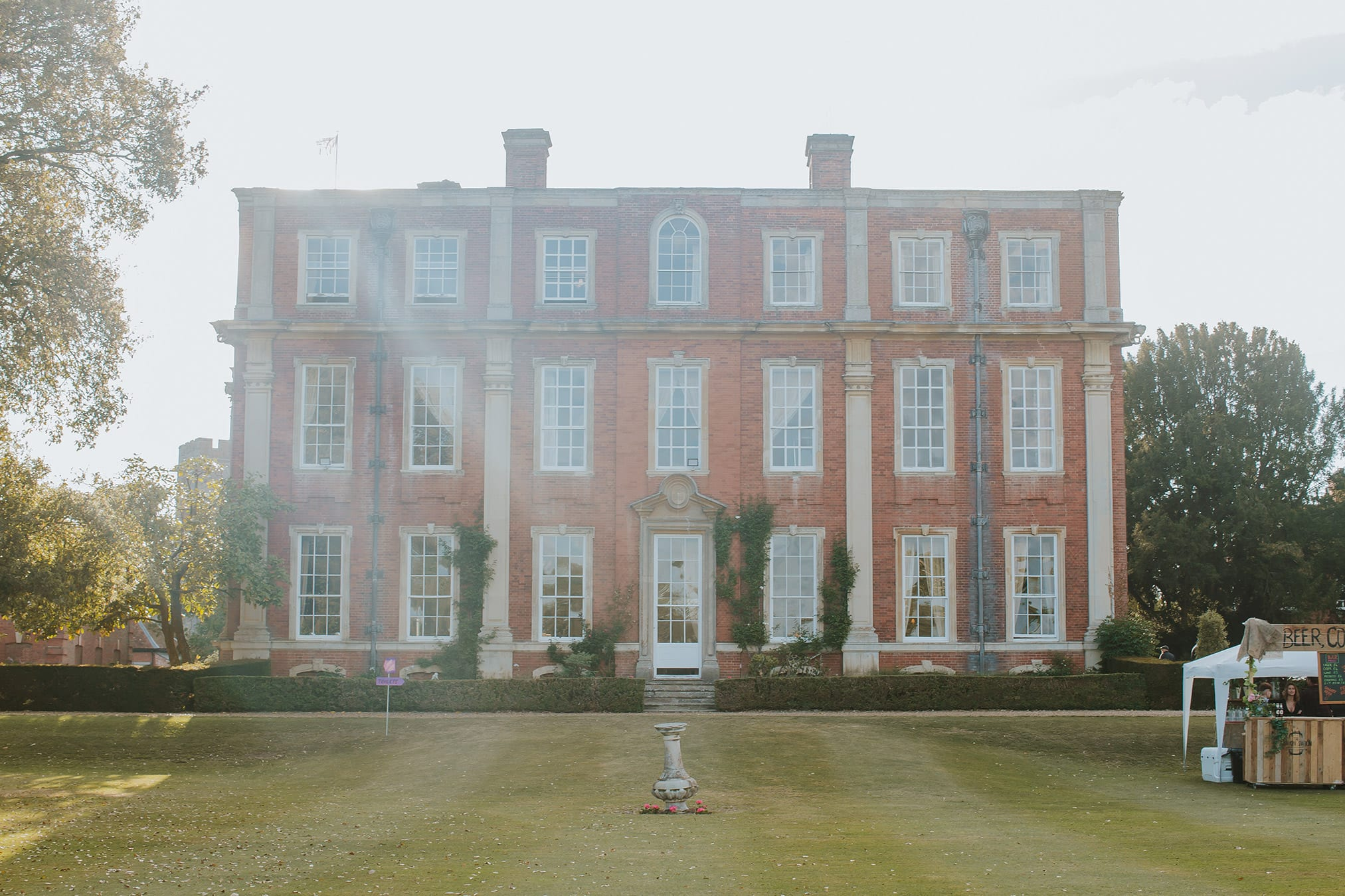 Open-air film screening at MK's Chicheley Hall