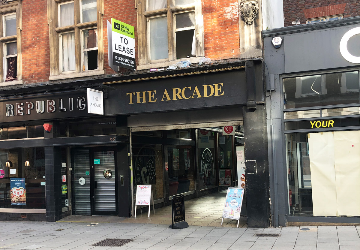 The Arcade on Bedford High Street