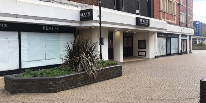 Closed retailer Beales on Bedford High Street