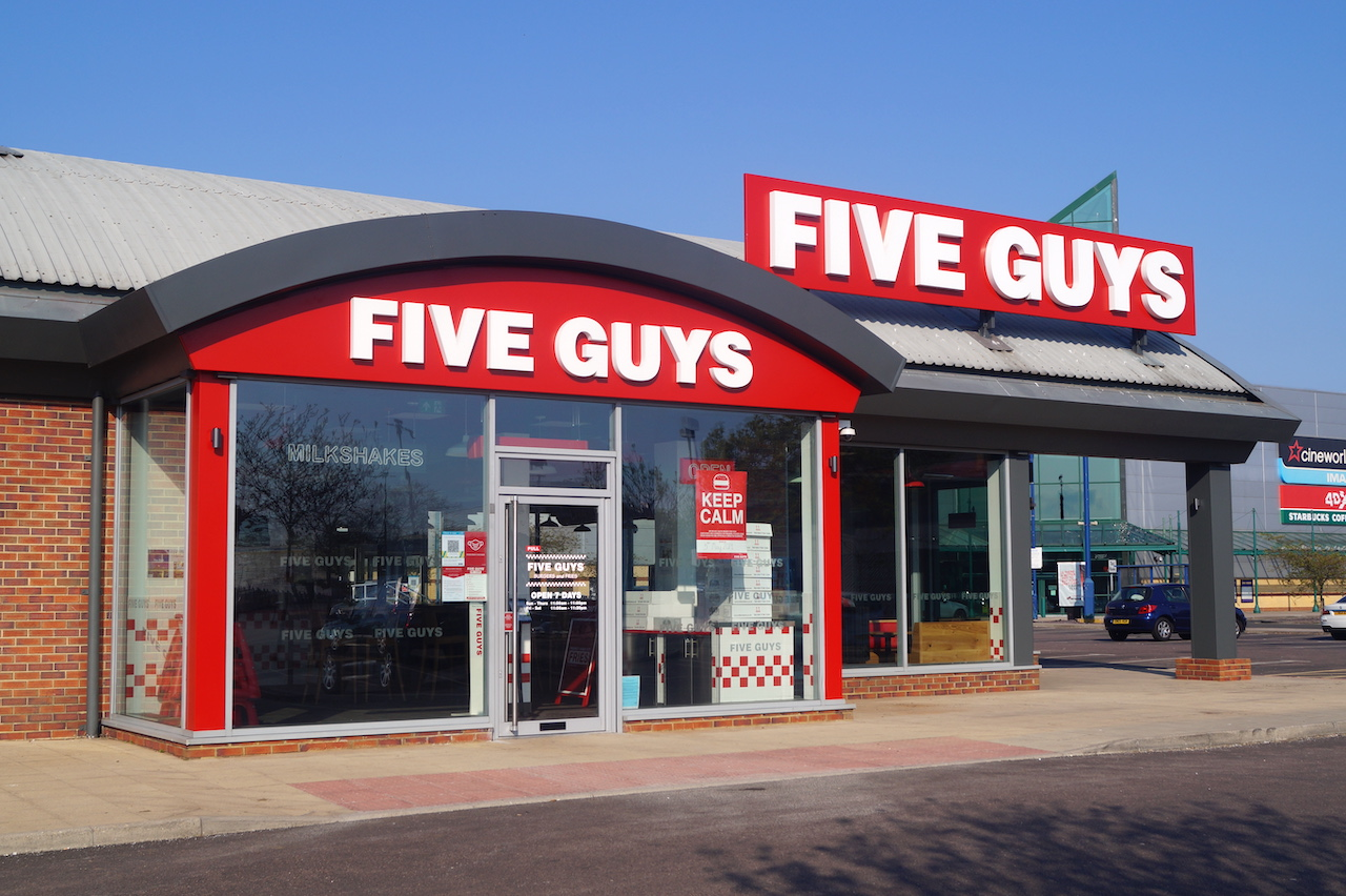 Five Guys Stevenage opened May 3rd with Curbside Click and Collect