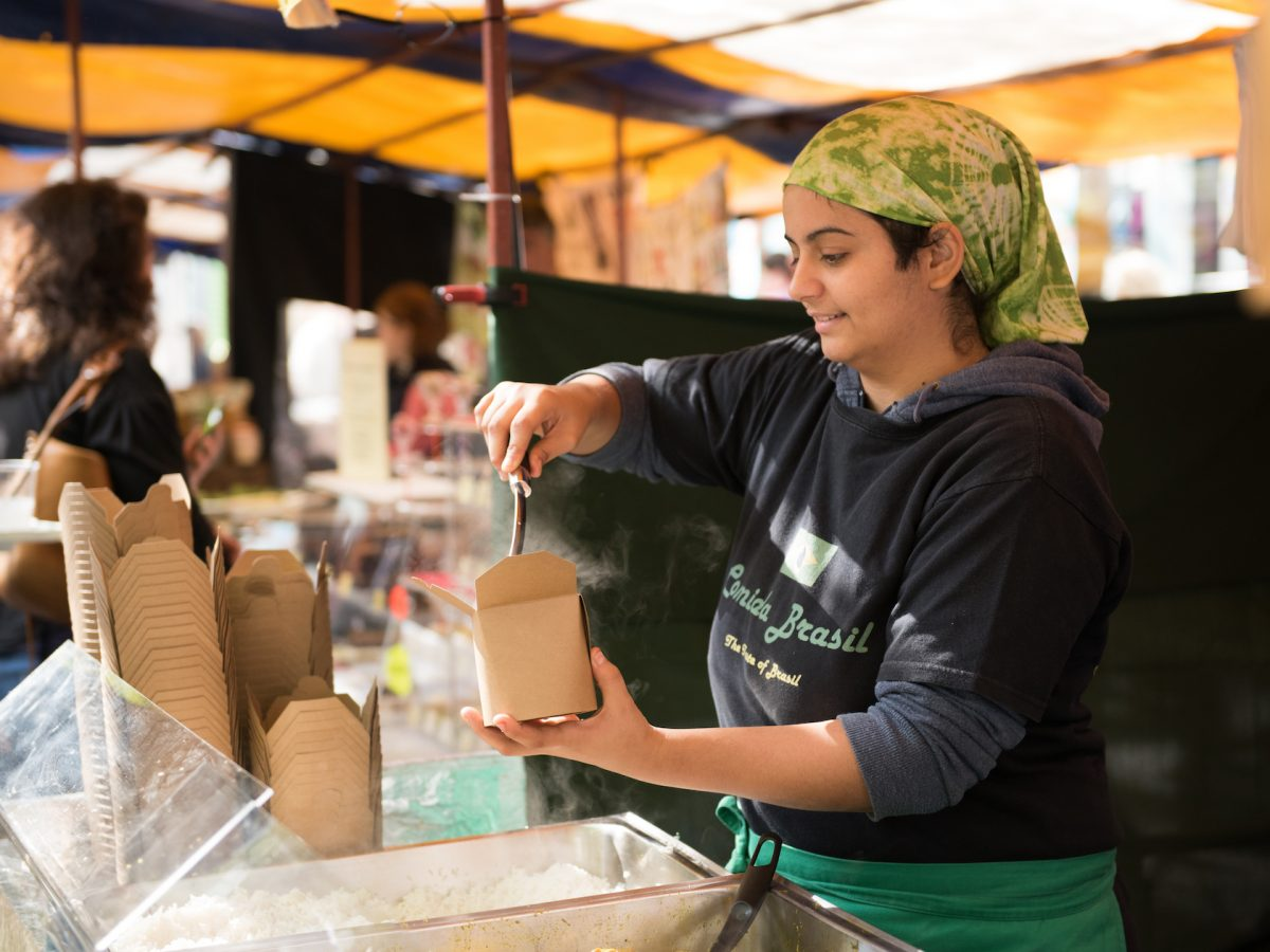 Food & Drink at St Albans Market. Photo by Stephanie Belton