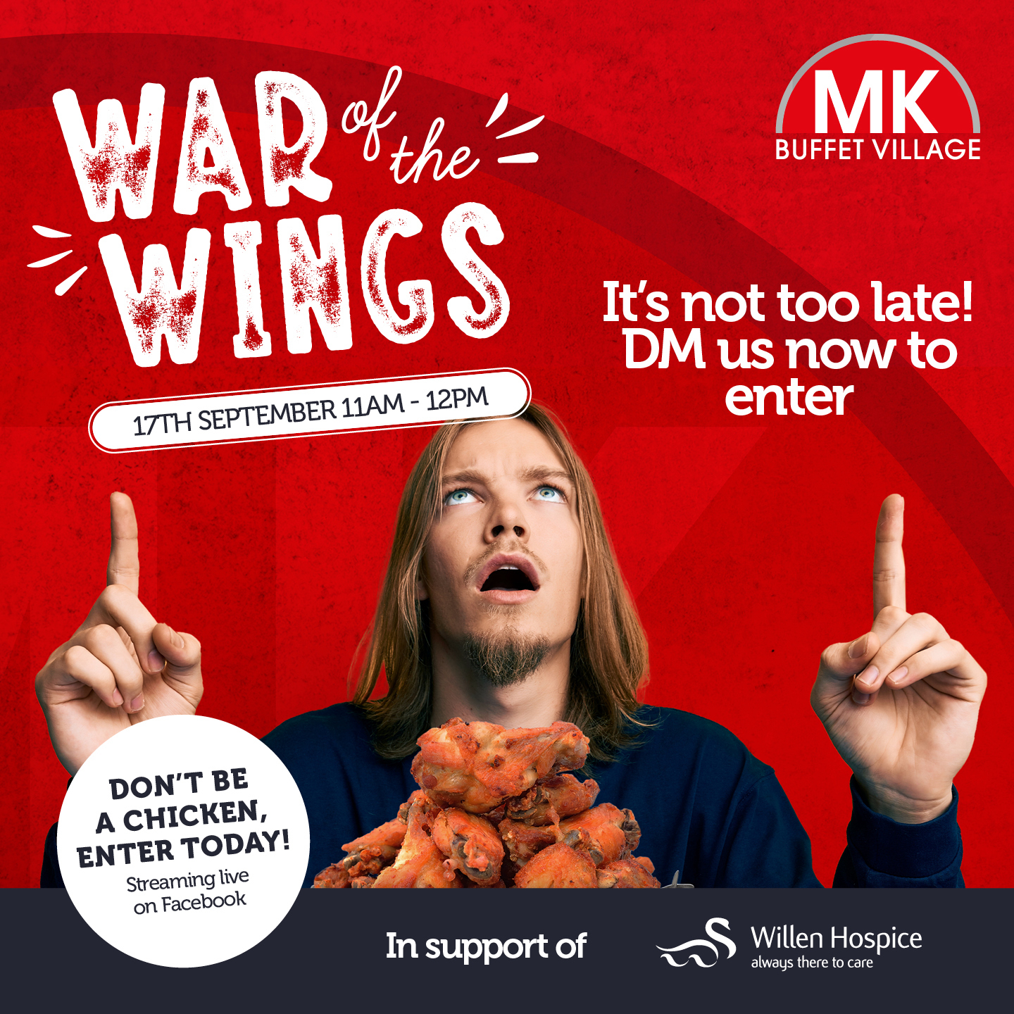 War of the Wings in aid of Willen Hospice 17 September 2021